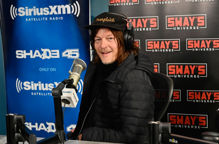 NEW YORK, NEW YORK - FEBRUARY 28: (EXCLUSIVE COVERAGE) Actor Norman Reedus visits 'Sway in the Morning' hosted by SiriusXM's Sway Calloway on Eminem's Shade 45 the SiriusXM Studios on February 28, 2020 in New York City. (Photo by Astrid Stawiarz/Getty Images)