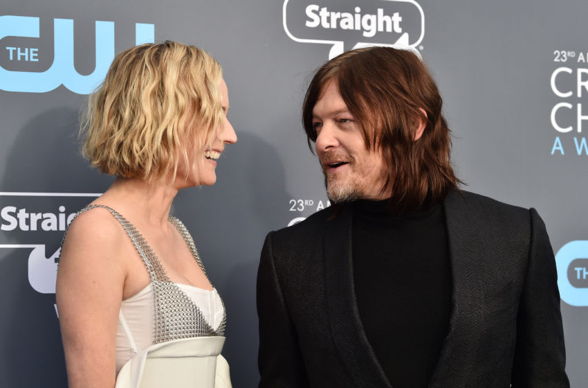 Diane Kruger (L) and Norman Reedus (Photo by Frazer Harrison/Getty Images)