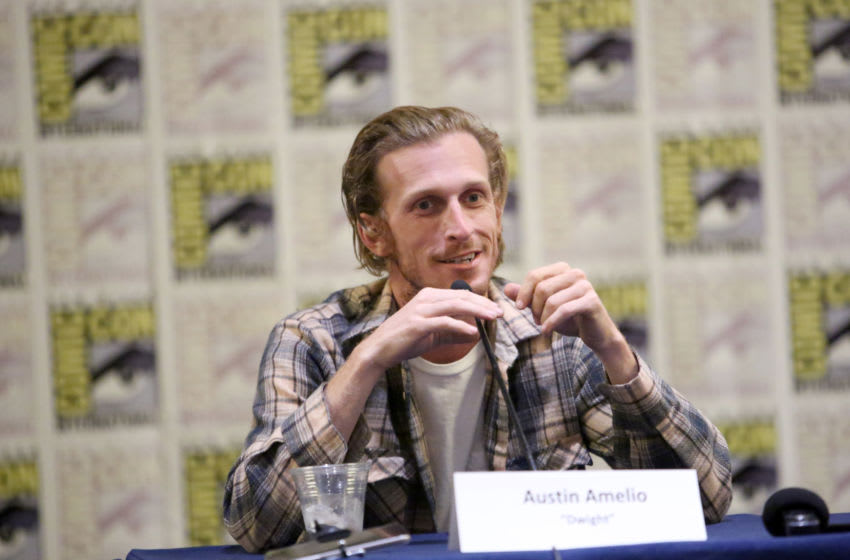 SAN DIEGO, CALIFORNIA - JULY 19: Austin Amelio speaks at the Fear The Walking Dead Press Conference at Comic Con 2019 on July 19, 2019 in San Diego, California. (Photo by Jesse Grant/Getty Images for AMC)