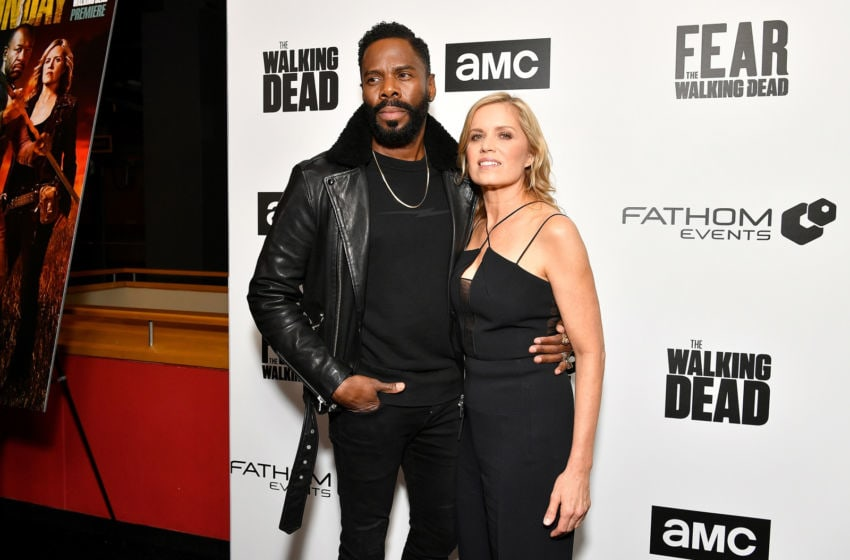 NEW YORK, NY - APRIL 15: Colman Domingo and Kim Dickens attend the AMC Survival Sunday The Walking Dead/Fear the Walking Dead at AMC Empire on April 15, 2018 in New York City. (Photo by Dia Dipasupil/Getty Images for AMC)