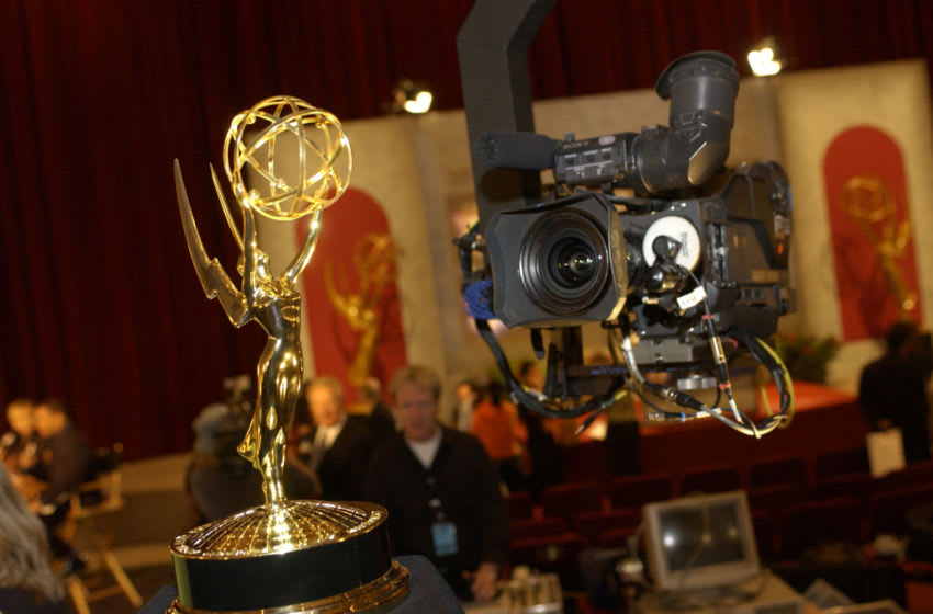 NORTH HOLLYWOOD, CA - JULY 17: The Emmy statue is seen during the 55th Annual Primetime Emmy Award Nominations at the ATAS' Leonard H. Goldenson Theatre July 17, 2003 in North Hollywood, California. (Vince Bucci/Photo by Getty Images)