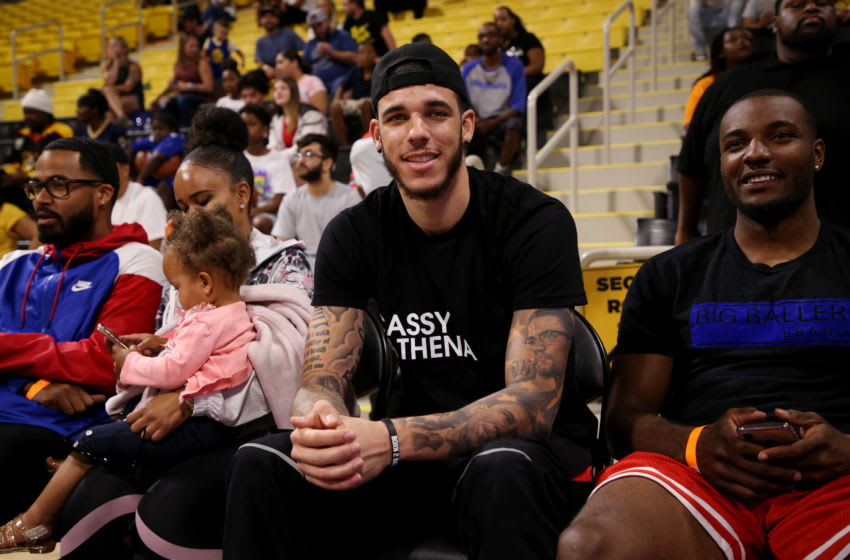 LONG BEACH, CALIFORNIA - AUGUST 17: Lonzo Ball attends Jordan Bell Hosts 1st Annual Celebrity Basketball Game Benefitting Race To Erase MS at California State University Long Beach on August 17, 2019 in Long Beach, California. (Photo by Phillip Faraone/Getty Images for Race to Erase MS)