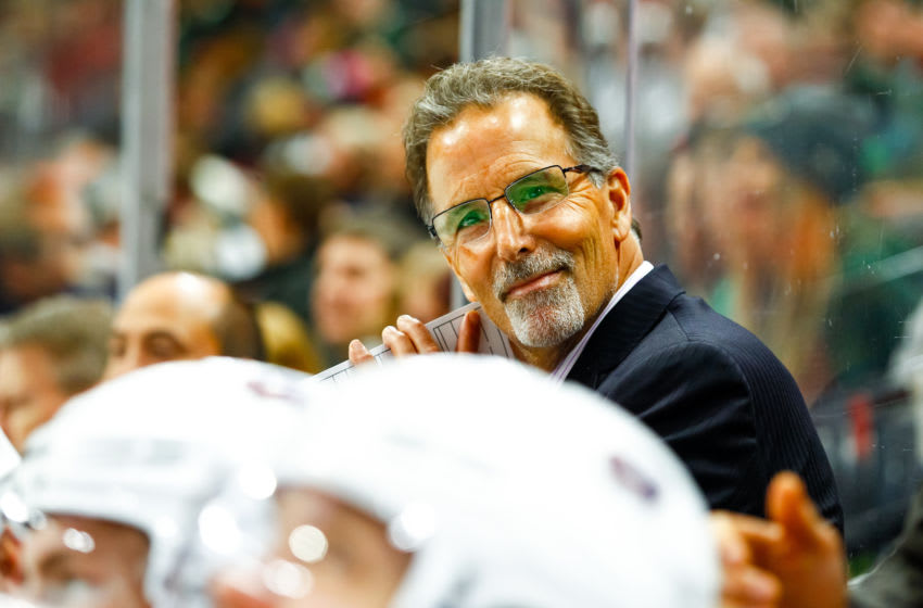 ST. PAUL, MN - OCTOBER 14: Columbus Blue Jackets head coach John Tortorella looks on during the regular season game between the Columbus Blue Jackets and the Minnesota Wild on October 14, 2017 at Xcel Energy Center in St. Paul, Minnesota. The Blue Jackets defeated the Wild 5-4 in overtime. (Photo by David Berding/Icon Sportswire via Getty Images)