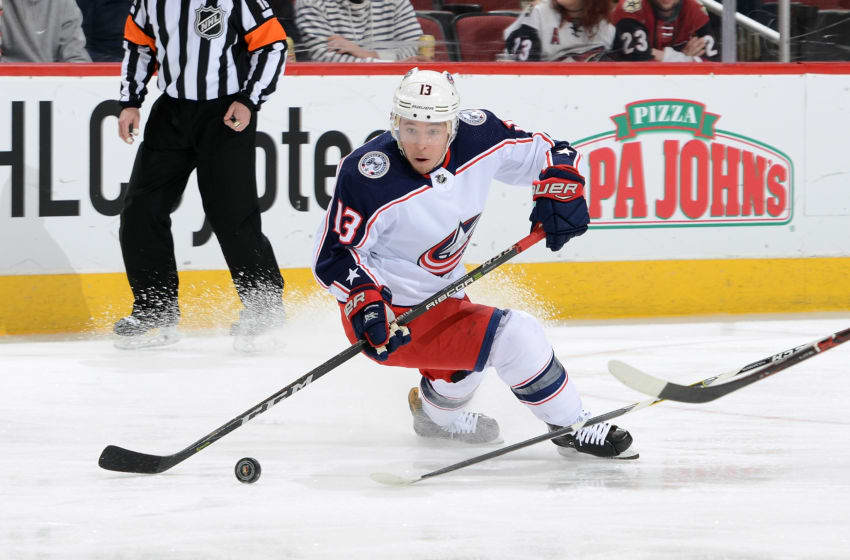 GLENDALE, AZ - JANUARY 25: Cam Atkinson