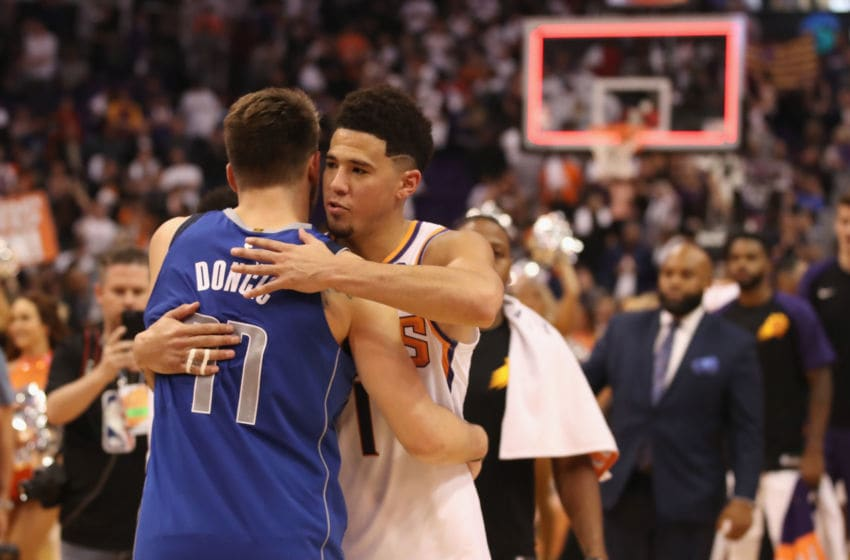 Devin Booker, Luka Doncic, Phoenix Suns (Photo by Christian Petersen/Getty Images)