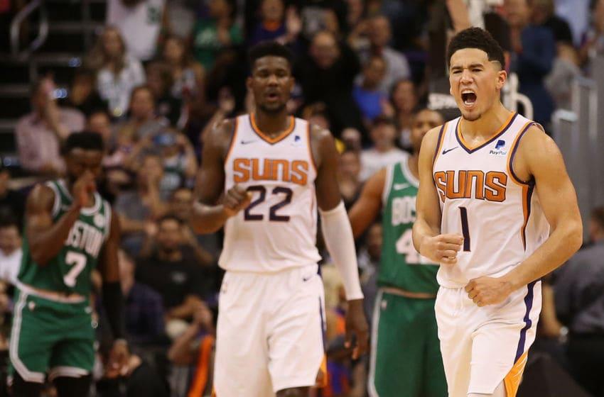 Phoenix Suns Devin Booker Deandre Ayton (Photo by Christian Petersen/Getty Images)
