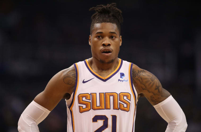 PHOENIX, AZ - NOVEMBER 14: Richaun Holmes #21 of the Phoenix Suns during the first half of the NBA game against the San Antonio Spurs at Talking Stick Resort Arena on November 14, 2018 in Phoenix, Arizona. NOTE TO USER: User expressly acknowledges and agrees that, by downloading and or using this photograph, User is consenting to the terms and conditions of the Getty Images License Agreement. (Photo by Christian Petersen/Getty Images)