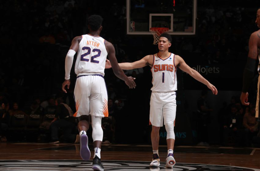 Phoenix Suns Deandre Ayton Devin Booker (Photo by Nathaniel S. Butler/NBAE via Getty Images)