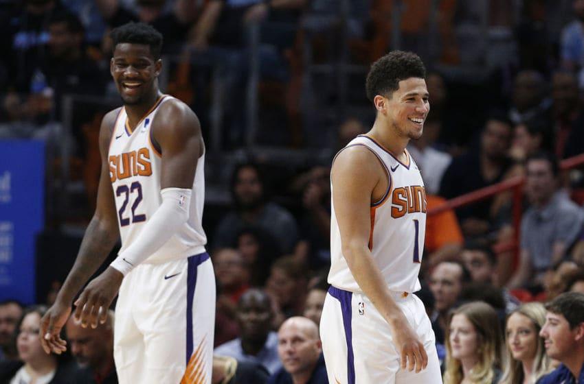 Devin Booker Deandre Ayton Phoenix Suns (Photo by Michael Reaves/Getty Images)