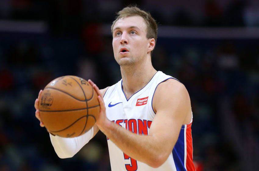 NEW ORLEANS, LOUISIANA - DECEMBER 09: Luke Kennard #5 of the Detroit Pistons in action against the New Orleans Pelicans during the second half at the Smoothie King Center on December 09, 2019 in New Orleans, Louisiana. NOTE TO USER: User expressly acknowledges and agrees that, by downloading and or using this Photograph, user is consenting to the terms and conditions of the Getty Images License Agreement. (Photo by Jonathan Bachman/Getty Images)