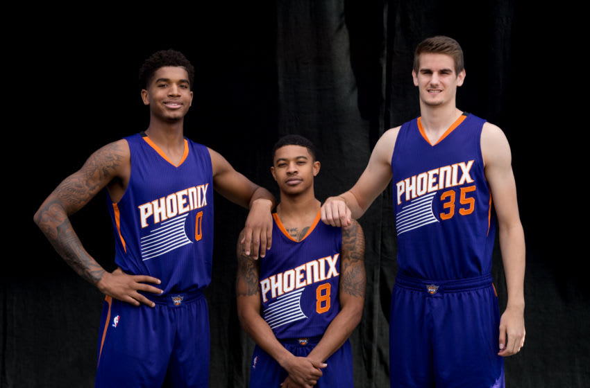 Marquese Chriss, Dragan Bender, Tyler Ulis Phoenix Suns (Photo by Nathaniel S. Butler/NBAE via Getty Images)