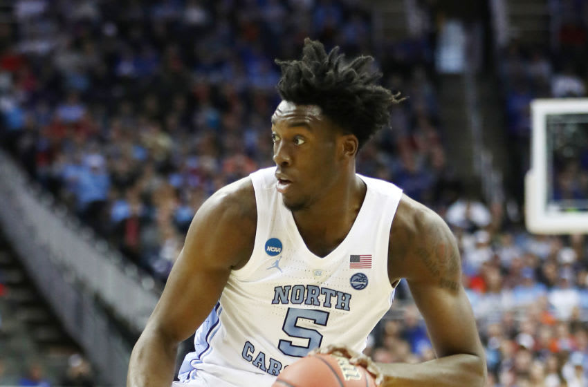 KANSAS CITY, MISSOURI - MARCH 29: Nassir Little #5 of the North Carolina Tar Heels handles the ball against the Auburn Tigers during the 2019 NCAA Basketball Tournament Midwest Regional at Sprint Center on March 29, 2019 in Kansas City, Missouri. (Photo by Jamie Squire/Getty Images)