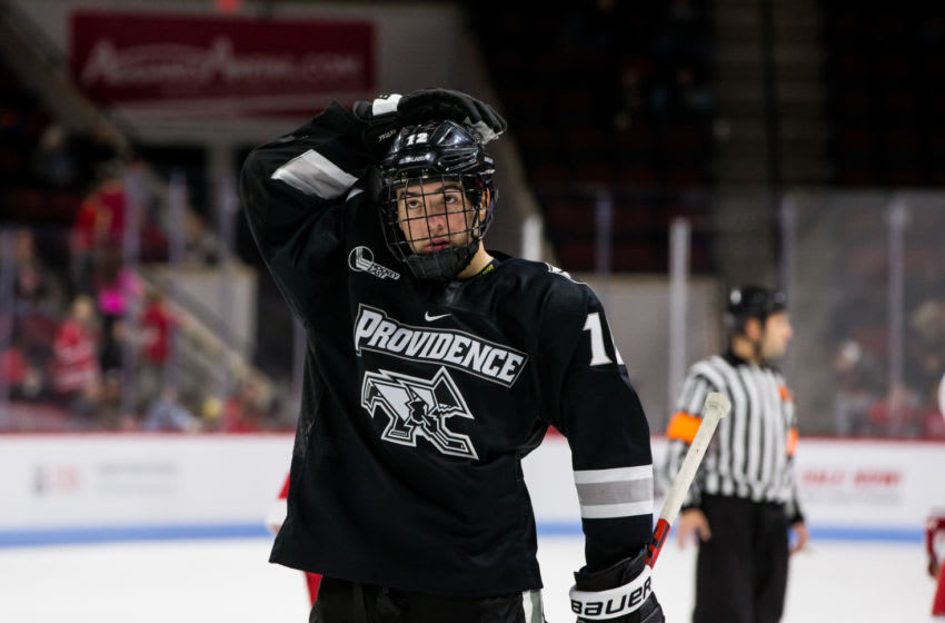 Providence College Friars, Jack Dugan #12. (Photo by Richard T Gagnon/Getty Images)
