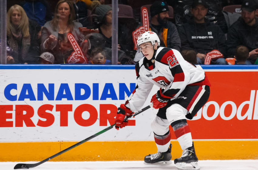 Marco Rossi #23 of the Ottawa 67's. (Photo by Chris Tanouye/Getty Images)