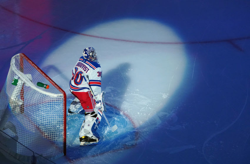 Henrik Lundqvist #30 of the New York Rangers. (Photo by Andre Ringuette/Getty Images)