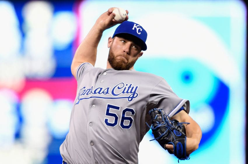 MINNEAPOLIS, MN - JUNE 9: Greg Holland #56 of the Kansas City Royals delivers a pitch against the Minnesota Twins during the ninth inning of the game on June 9, 2015 at Target Field in Minneapolis, Minnesota. The Royals defeated the Twins 2-0. (Photo by Hannah Foslien/Getty Images)