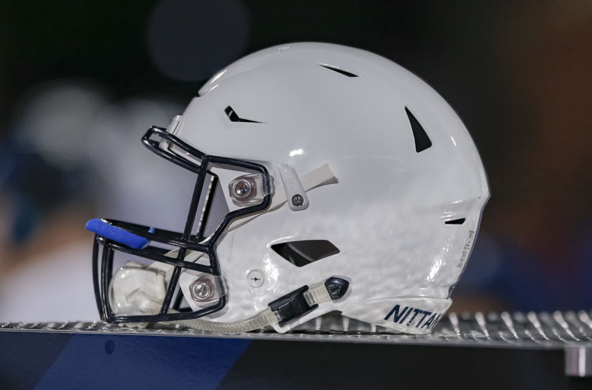 CHAMPAIGN, IL - SEPTEMBER 21: A Penn State Nittany Lions helmet is seen during the game against the Illinois Fighting Illini at Memorial Stadium on September 21, 2018 in Champaign, Illinois. (Photo by Michael Hickey/Getty Images)