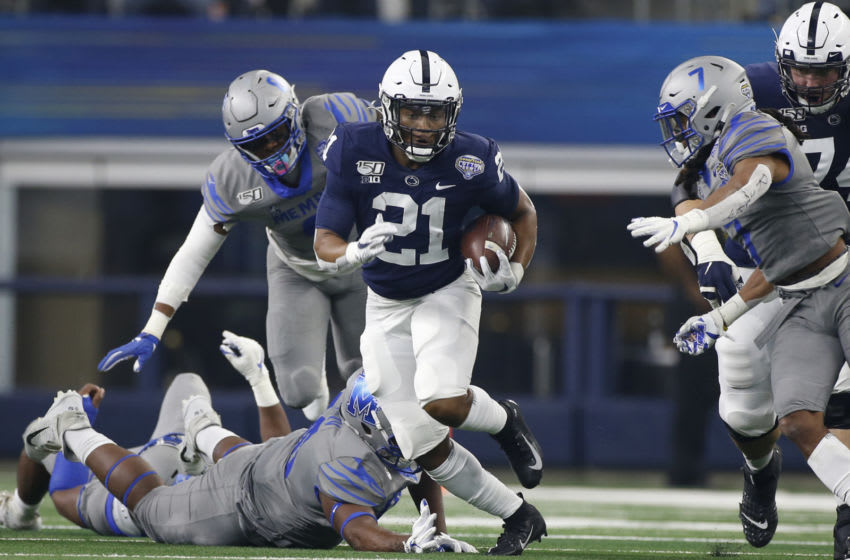 Penn State Nittany Lions running back Noah Cain (Mandatory Credit: Tim Heitman-USA TODAY Sports)