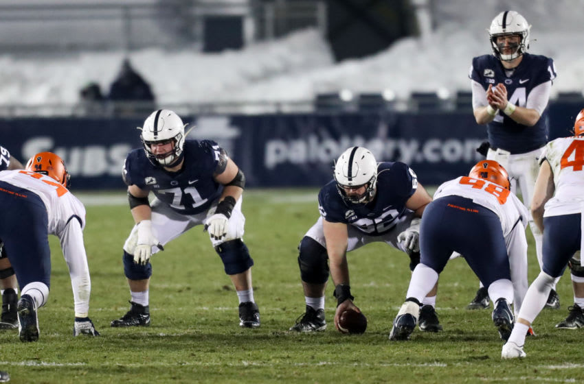 Penn State Nittany Lions offensive linesman Michal Menet (Mandatory Credit: Matthew OHaren-USA TODAY Sports)