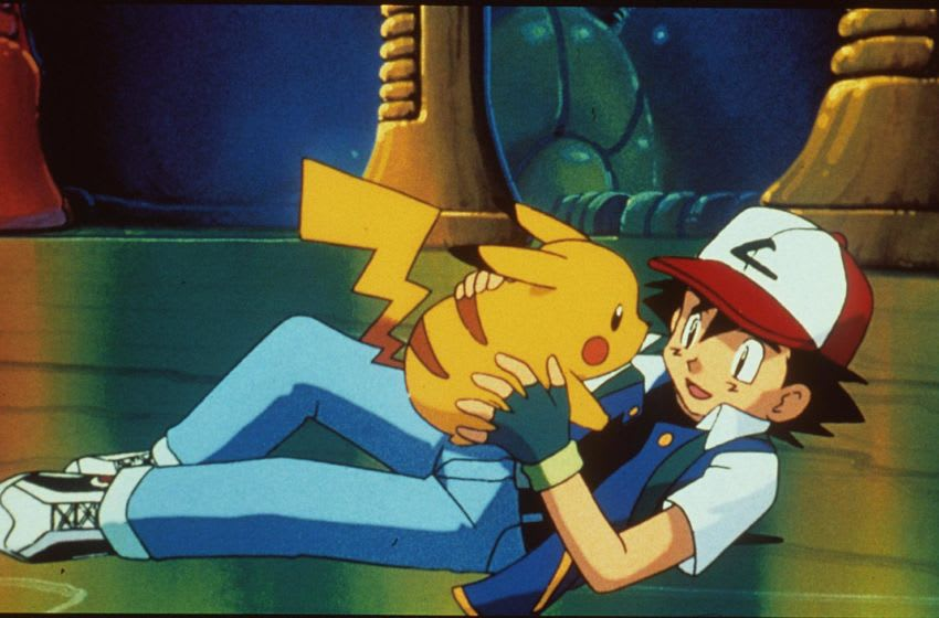1999 Pikachu And Ash In The Animated Movie