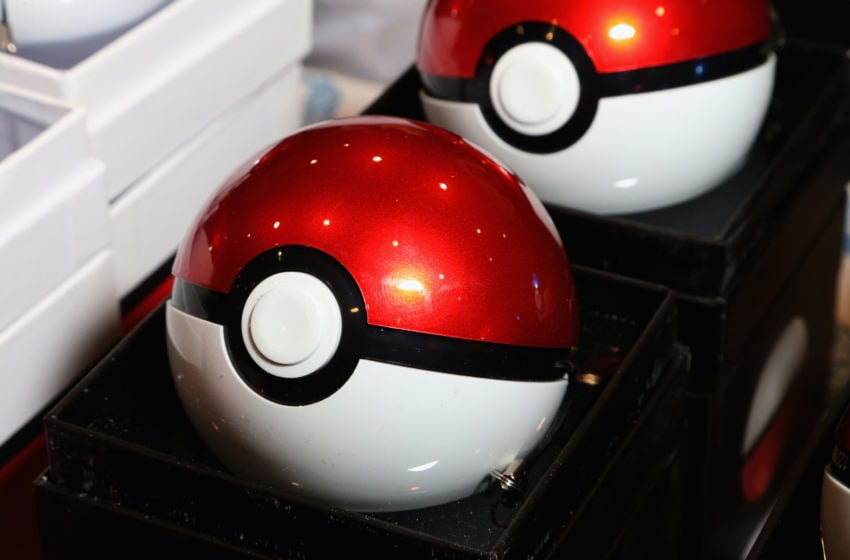 Poke Ball chargers (Photo by Gabe Ginsberg/Getty Images)