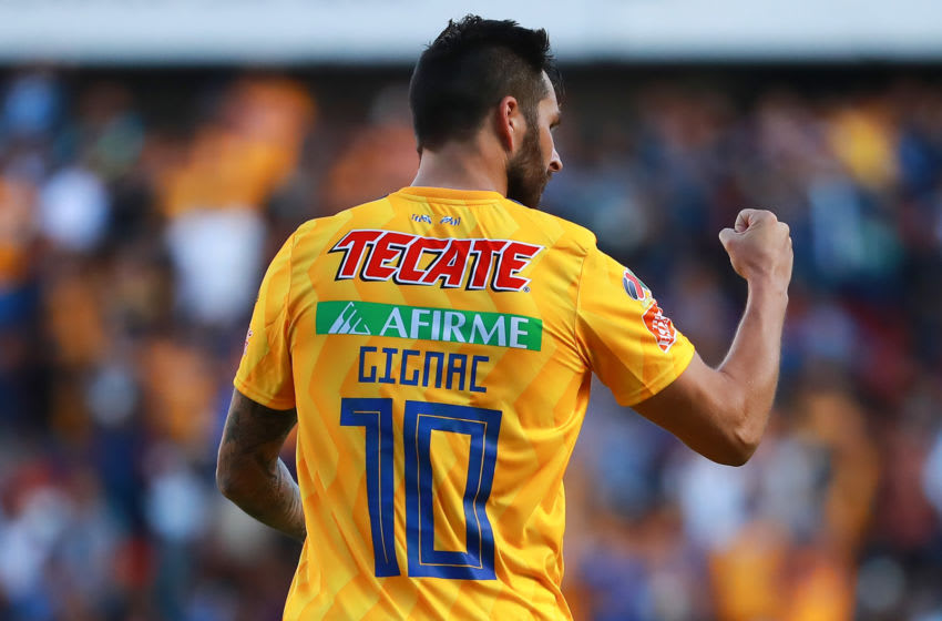 Andre Pierre Gignac scored a hat trick Saturday night and now has four goals on the season. (Photo by Hector Vivas/Getty Images)