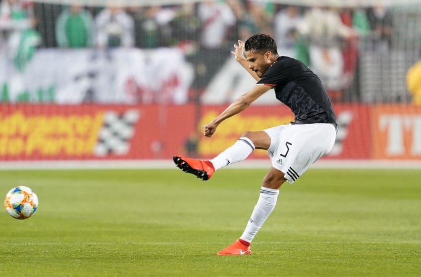 Diego Reyes, in action against Paraguay in a friendly. (Photo by Thearon W. Henderson/Getty Images)