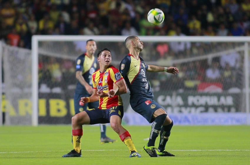 Morelia welcomes América to Estadio Morelos in the first leg of their semifinal match. (Photo by Cesar Reyna/Jam Media/Getty Images)