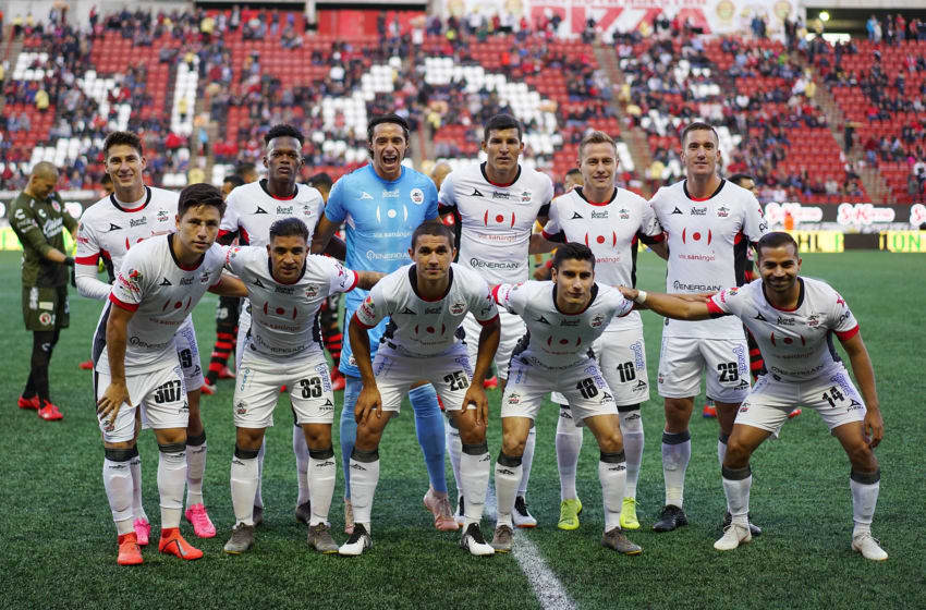 TIJUANA, MEXICO - APRIL 19: Team Lobos during the 15th round match between Tijuana and Lobos BUAP as part of the Torneo Clausura 2019 Liga at Caliente Stadium on April 19, 2019 in Tijuana, Mexico. (Photo by Gonzalo Gonzalez/Jam Media/Getty Images)