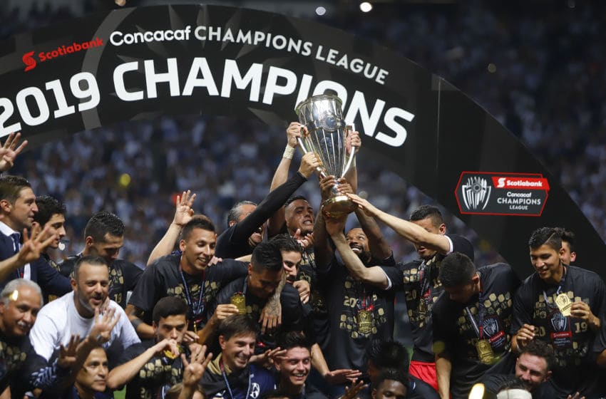 after the final second leg match between Monterrey and Tigres UANL as part of the CONCACAF Champions League 2019 at BBVA Bancomer Stadium on May 1, 2019 in Monterrey, Mexico.