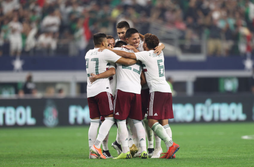 ARLINGTON, TX - JUNE 09: Mexico celebrates a second goal during the match against Ecuador at AT&T Stadium on June 9, 2019 in Arlington, Texas. (Photo by Omar Vega/Getty Images)