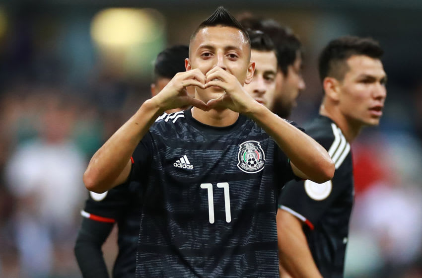 Mexico hit No. 11 in the October FIFA rankings. Here, Roberto Alvarado celebrates his goal against Panama on Oct. 15. (Photo by Hector Vivas/Getty Images)