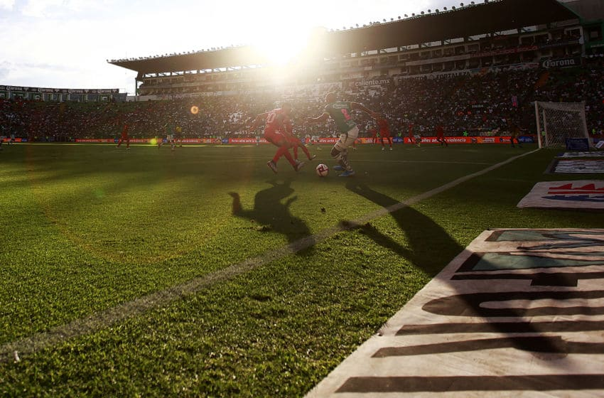 LEON, MEXICO - OCTOBER 05: Detail of shadows during the 13th round match between Leon and Veracruz as part of the Torneo Apertura 2019 Liga MX at Leon Stadium on October 5, 2019 in Leon, Mexico. (Photo by Cesar Gomez/Jam Media/Getty Images)