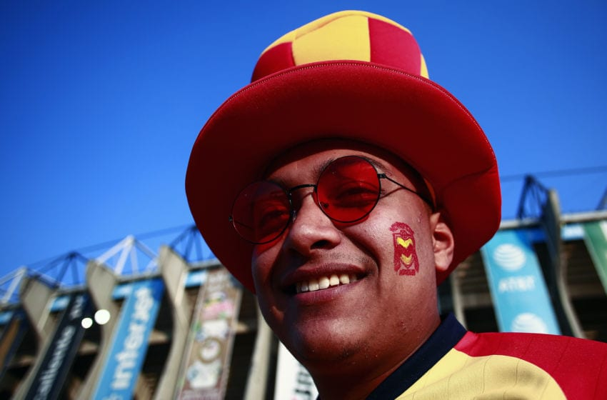 MEXICO CITY, MEXICO - DECEMBER 08: Fan of Monarcas smiles before the Semifinals second leg match between America and Morelia as part of the Torneo Apertura 2019 Liga MX at Azteca Stadium on December 5, 2019 in Mexico City, Mexico. (Photo by Mauricio Salas/Jam Media/Getty Images)