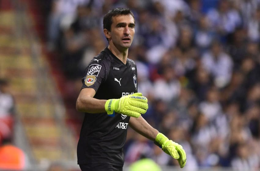 MONTERREY, MEXICO - JANUARY 18: Marcelo Barovero goalkeeper of Monterrey gives instructions during the 2nd round match between Monterrey and Morelia as part of the Torneo Clausura 2020 Liga MX at BBVA Stadium on January 18, 2020 in Monterrey, Mexico. (Photo by Andrea Jimenez/Jam Media/Getty Images)
