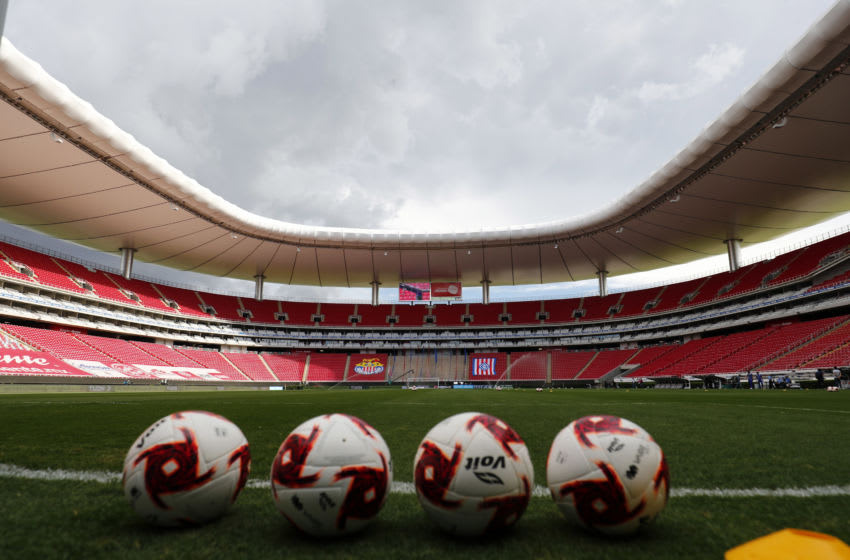 ZAPOPAN, MEXICO - AUGUST 29: General view of the empty stands of Akron stadium before the game between the 7th round match between Chivas and Pachuca as part of the Torneo Guard1anes 2020 Liga MX at Akron Stadium on August 29, 2020 in Zapopan, Mexico. (Photo by Refugio Ruiz/Getty Images)