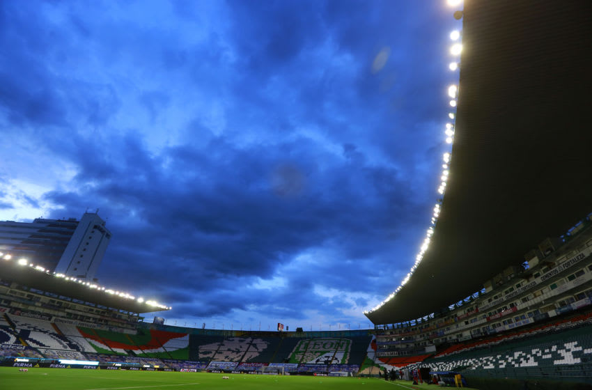LEON, MEXICO - AUGUST 17: General view of the stadium during the 5th round match between Leon and Tijuana as part of the Torneo Guard1anes 2020 Liga MX at Leon Stadium on August 17, 2020 in Leon, Mexico. (Photo by Cesar Gomez/Jam Media/Getty Images)