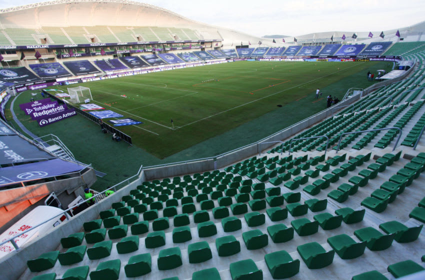 MAZATLAN, MEXICO - SEPTEMBER 18: General view of the empty stadium prior to the 11th round match between Mazatlan FC and Cruz Azul as part of the Torneo Guard1anes 2020 Liga MX at Kraken Stadium on September 18, 2020 in Mazatlan, Mexico. (Photo by Alejandro Avila/Jam Media/Getty Images)