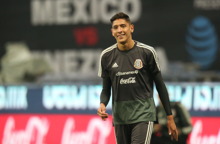 ATLANTA, GA - JUNE 04: Edson Alvarez of the Mexican National Team smiles during a training session session at Mercedes-Benz Stadium on June 4, 2019 in Atlanta, Georgia. (Photo by Omar Vega/Getty Images)