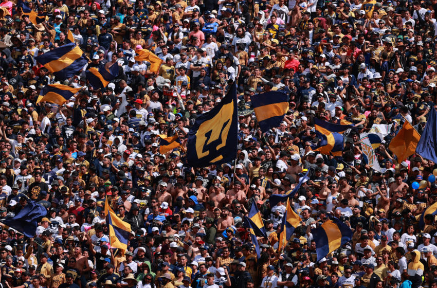 MEXICO CITY, MEXICO - JANUARY 26: Fans of Pumas during the 3rd round match between Pumas UNAM and Monterrey as part of the Torneo Clausura 2020 Liga MX at Olimpico Universitario Stadium on January 26, 2020 in Mexico City, Mexico. (Photo by Hector Vivas/Getty Images)
