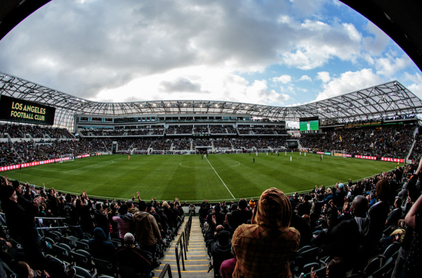 LOS ANGELES, CA - MARCH 01: Banc of California stadium view during a game between Inter Miami CF and Los Angeles FC at Banc of California Stadium on March 01, 2020 in Los Angeles, California. (Photo by Michael Janosz/ISI Photos/Getty Images)