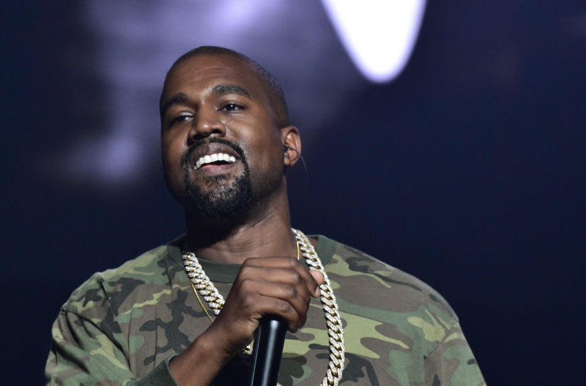 ATLANTA, GA - JULY 25: Kanye West performs at Jeezy Presents TM101: 10 Year Anniversary Concert at The Fox Theatre on July 25, 2015 in Atlanta, Georgia. (Photo by Prince Williams/WireImage)