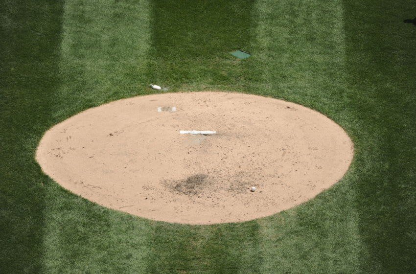 CHICAGO - MAY 22: A general view of the pitchers mound at U.S. Cellular field during the game between the Los Angeles Dodgers and Chicago White Sox on May 22, 2011 at U.S. Cellular Field in Chicago, Illinois. The White Sox defeated the Dodgers 8-3. (Photo by Ron Vesely/MLB Photos via Getty Images)