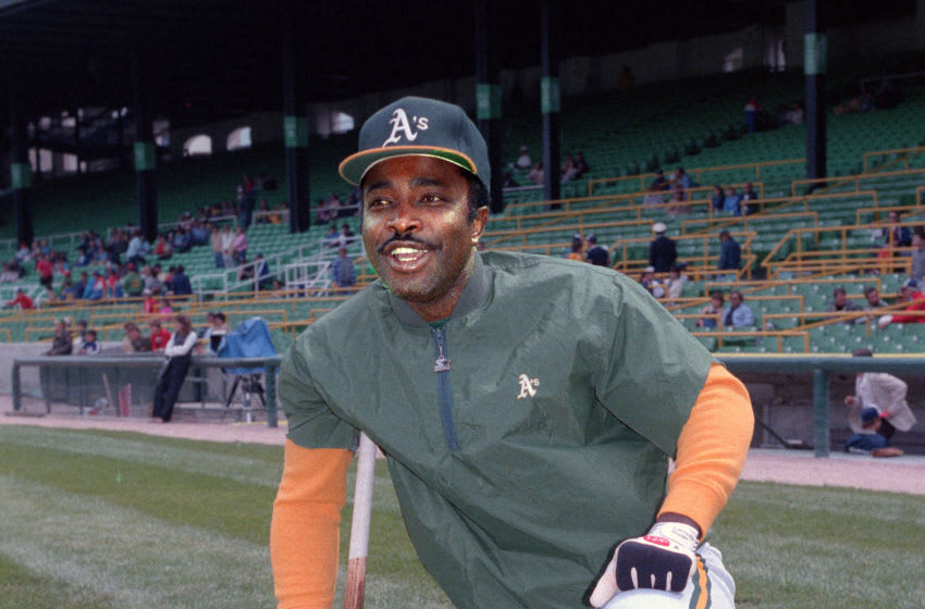 CHICAGO - UNDATED 1984: Joe Morgan of the Oakland A's poses before a MLB game at Comiskey Park in Chicago, Illinois. Morgan played with the Oakland A's in 1984. (Photo by Ron Vesely/MLB Photos via Getty Images)