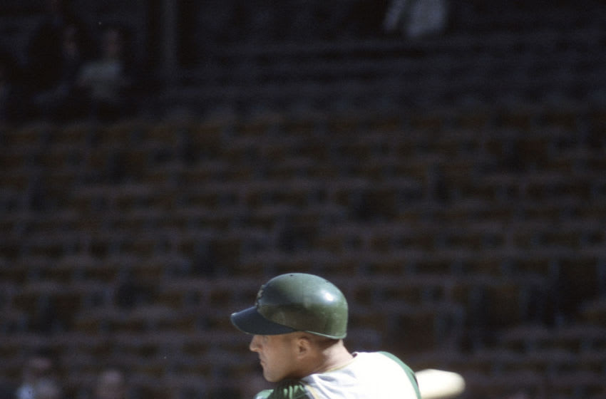 UNSPECIFIED - CIRCA 1964: Wayne Causey #2 of the Kansas City Athletics bats during an Major League Baseball game circa 1964. Causey played for the Athletics from 1961-66. (Photo by Focus on Sport/Getty Images)