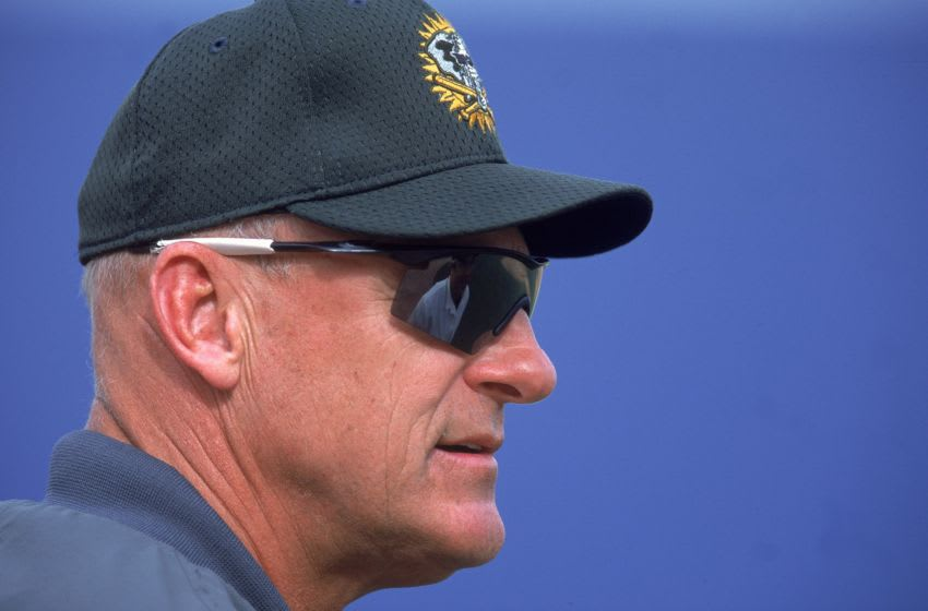4 Mar 2001: Manager Art Howe of the Oakland Athletics looks on during Spring Training Game against the Anaheim Angels at Tempe Diablo Stadium in Tempe, Arizona. The A's defeated the Angels 4-2.Mandatory Credit: Jeff Gross /Allsport