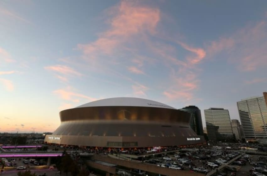 Oct 4, 2015; New Orleans, LA, USA; A general view of the Mercedes-Benz Superdome prior to the game between the New Orleans Saints and the Dallas Cowboys. Mandatory Credit: Chuck Cook-USA TODAY Sports