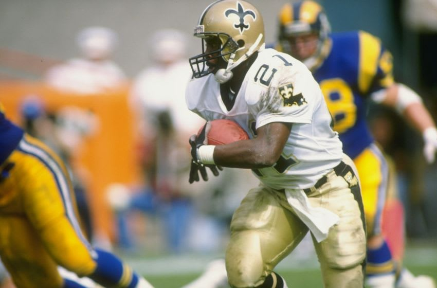 22 Oct 1989: Running back Dalton Hilliard of the New Orleans Saints in action during a game against the Los Angeles Rams at Anaheim Stadium in Anaheim, California. The Saints won the game 40-21. Mandatory Credit: Mike Powell /Allsport
