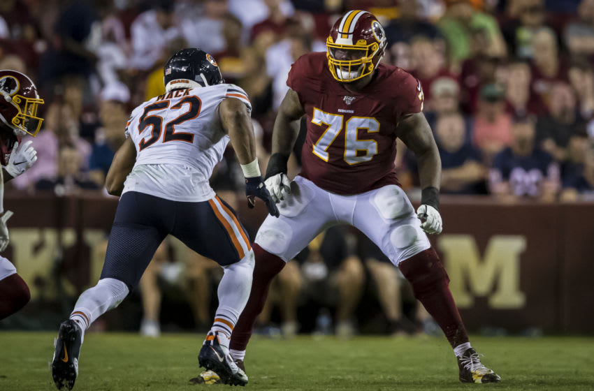 Morgan Moses #76 of the Washington Football Team (Photo by Scott Taetsch/Getty Images)