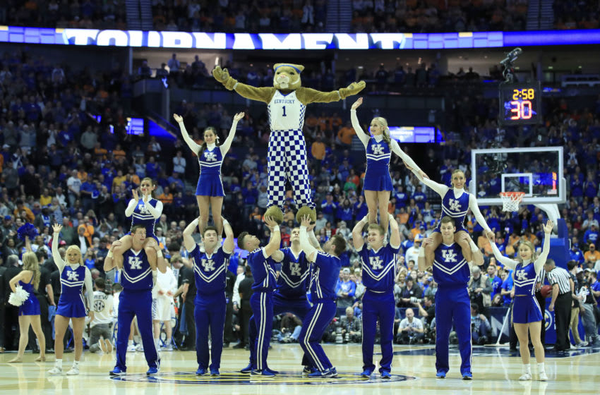 The cheerleaders of the Kentucky Wildcats (Photo by Andy Lyons/Getty Images)